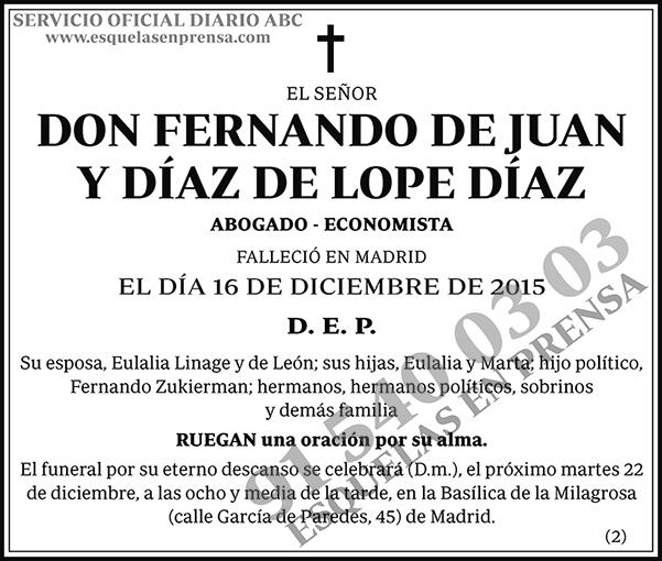 Fernando de Juan y Díaz de Lope Díaz